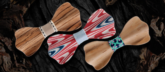 Wooden 3D Bow Tie