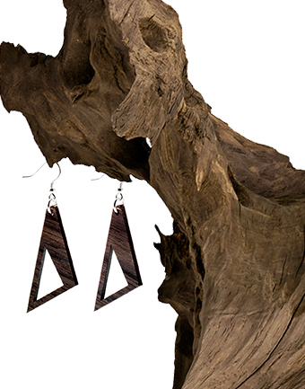 Wooden Drop Earring